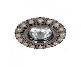 Светильник потолочный  MR16 Max35W 220V G5.3, черный,хром, CD2052 FERON
