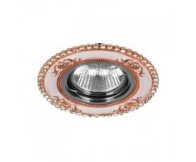 Светильник потолочный  MR16 Max35W 220V G5.3, шампань,хром, CD2054 FERON