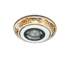 Светильник потолочный  MR16 MAX50W 12V G5.3 золото,белый, С2525 FERON