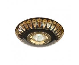 Светильник потолочный  MR16 MAX50W 12V G5.3 золото,черный, С2727 FERON