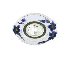 Светильник потолочный  MR16 MAX50W 12V G5.3, синий,белый, CD10M FERON