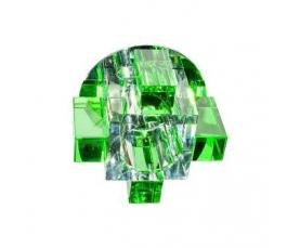 Светильник потолочный, JCD G9 с зеленым стеклом, хром, с лампой, C1037G FERON