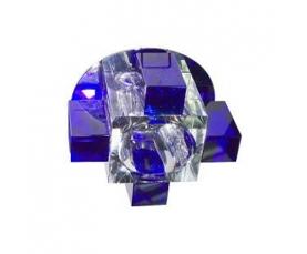Светильник потолочный, JCD G9 с синим стеклом, хром, с лампой, C1037B FERON