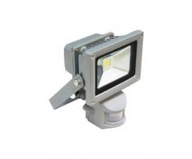 Прожектор светодиодный c датчиком 1LED*10W белый 230V серый IP44 LL222 Feron