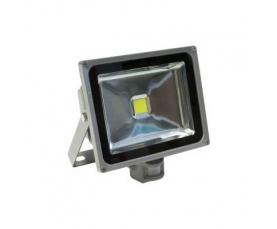 Прожектор светодиодный c датчиком 1LED*30W 6400К 230V серый IP44 LL232 Feron