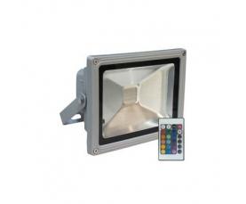 Прожектор светодиодный 1LED*20W RGB 230V серый IP44 LL181 Feron
