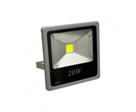 Прожектор светодиодный 1LED*20W RGB 230V серый IP65 LL272 Feron