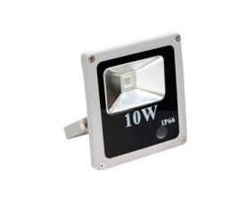 Прожектор светодиодный 1LED*10W синий 230V серый IP66 LL271 Feron