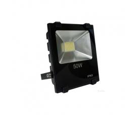 Прожектор светодиодный 2835 SMD 50W 5000LM 6400K AC220V IP65 черный LL842 Feron
