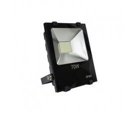 Прожектор светодиодный 2835 SMD 70W 7000LM 6400K AC220V IP65 черный LL843 Feron