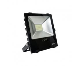 Прожектор светодиодный 2835 SMD 100W 10000LM 6400K AC220V IP65 черный LL844 Feron