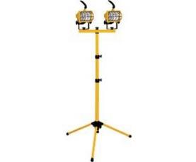 Прожектор на штативе 2*500W 230V R7S с лампой желтый GL2702 Feron