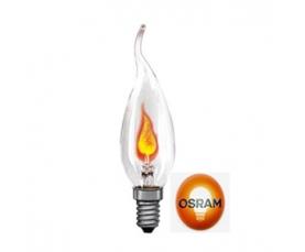 Лампа накаливания DECOR BA FLICKER CL 3W 230V E14 OSRAM