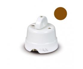 Керамический изолятор D 16 мм с латунными винтами белый 84030 FANTON