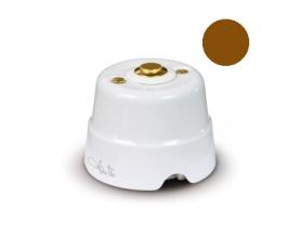 Керамический изолятор D 19 мм с латунными винтами бел. 84031 FANTON