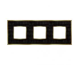 Рамка FD01331BQCB VINTAGE CORINTO Blackquartz-Bright Chrome FEDE