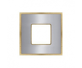 Рамка FD01433OBOB NEW BELLE EPOQUE METAL Bright Gold+ Bright Chrome FEDE