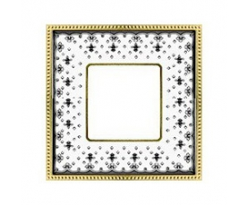 Рамка FD01474MACB NEW BELLE EPOQUE PORCELAIN Brown Lys-Bright Chrome FEDE