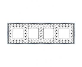 Рамка накладная FD01502BD WHITE DECAPE FEDE