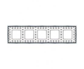 Рамка накладная FD01503BD WHITE DECAPE FEDE