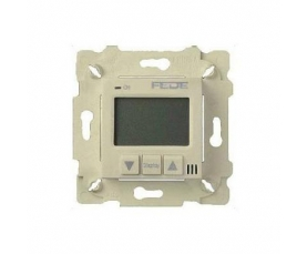 FD18001PB-A NEW THERMOSTATS WITH BRASS COVER beige + brass front cover bright patina FEDE