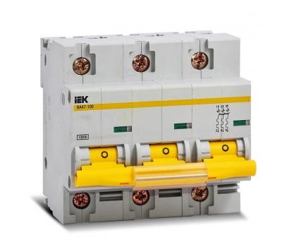 Автоматический выключатель BA47-100 100A 3п. (характ. С) IEK