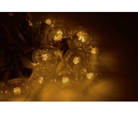 Гирлянда LED Galaxy Bulb String 10м, белый КАУЧУК, 30 ламп*6 LED ЖЕЛТЫЕ, влагостойкая IP54
