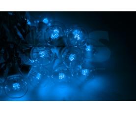 Гирлянда LED Galaxy Bulb String 10м, белый КАУЧУК, 30 ламп*6 LED СИНИЕ, влагостойкая IP54