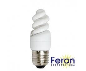 Лампа энергосберегающая ELT19 13W 230V E27 6400K спираль T2 FERON