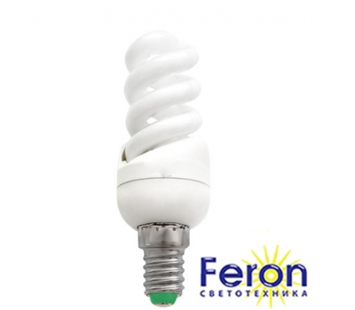 Лампа энергосберегающая ELT19 13W 230V E14 2700K спираль T2 FERON