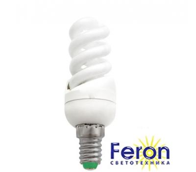 Лампа энергосберегающая ELT19 13W 230V E14 4000K спираль T2 FERON
