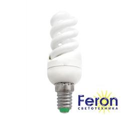 Лампа энергосберегающая ELT19 9W 230V E14 4000K спираль T2 FERON