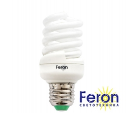 Лампа энергосберегающая ELT19 15W 230V E27 6400K спираль T2 FERON