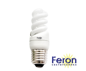 Лампа энергосберегающая ELT19 9W 230V E27 6400K спираль T2 FERON