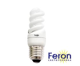 Лампа энергосберегающая ELT19 9W 230V E27 4000K спираль T2 FERON