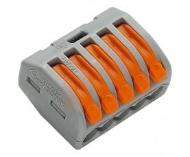 222-415 Универсальная многоразовая 5-проводная клемма 0,08-2,5 4 мм2 40шт. WAGO